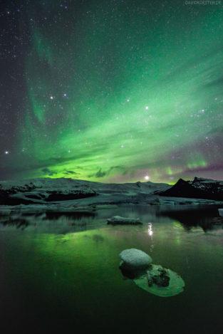 Island - Polarlichter über Gletscherlagune