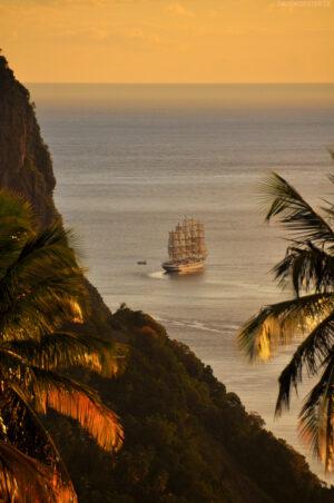 Karibik - Segelschiff vor St. Lucia