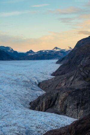 Grönland Landschaft: Gletscher Iattuut Sermiat, Beginn des Inlandeises, Narsarsuaq, Südgrönland