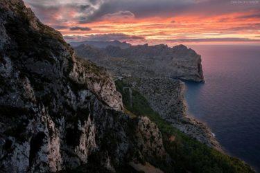 Mallorca, Cap Formentor bei Sonnenuntergang