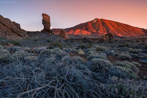 Teneriffa, Vulkan Teide bei Sonnenaufgang, Kanaren