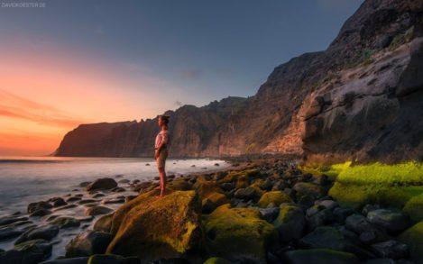 Teneriffa, Strand bei Los Gigantes, Kanaren