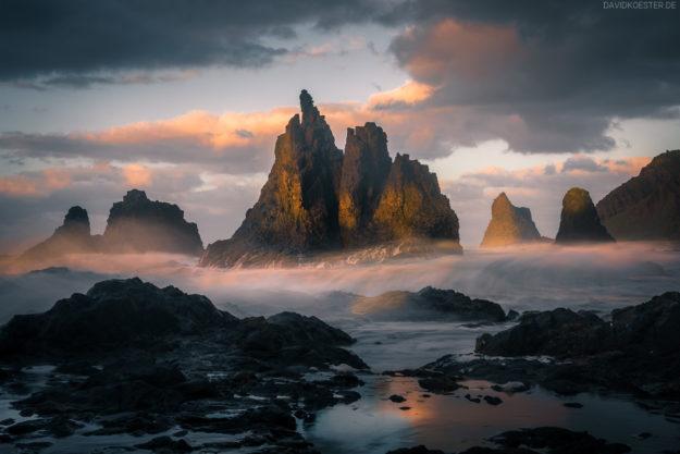 Teneriffa, Dramatische Küste und wilder Strand bei Benijo, Kanaren