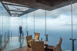 La Gomera Mirador de Abrante mit Blick auf Teide, Tenriffa