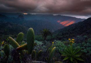 La Gomera Berglandschaft beim Valle del Rey