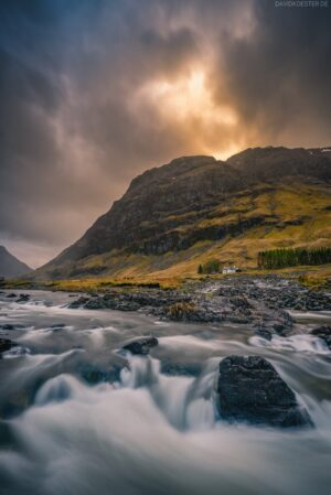 Schottland: River Coe, Glen Coe, Highlands
