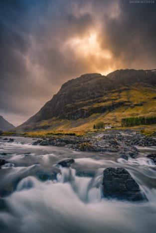 Schottland: River Coe, Glen Coe, Highlands