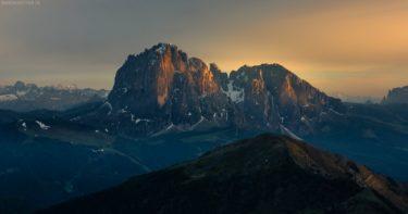 Dolomiten, Südtirol, Langkofel und Plattkofel