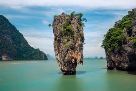 James Bond Island mit Felsnadel, Khao Phing Kan, Thailand