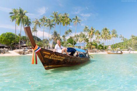 Palmenstrand Loh Bagao Bay, Phi Phi Island, Thailand