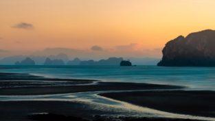 Blick auf Phang Nga Bay, Koh Yao Yai, Thailand