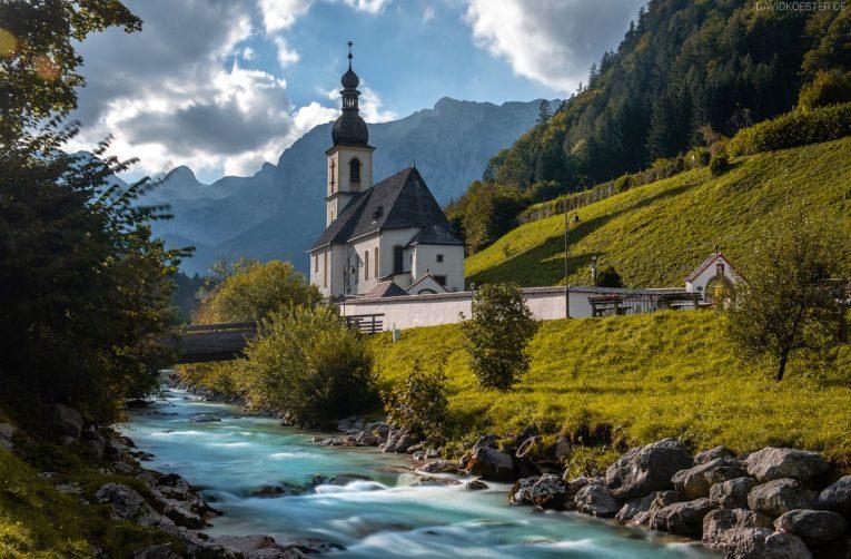 Kirche in Ramsau, Berchtesgadener Land, Bayern
