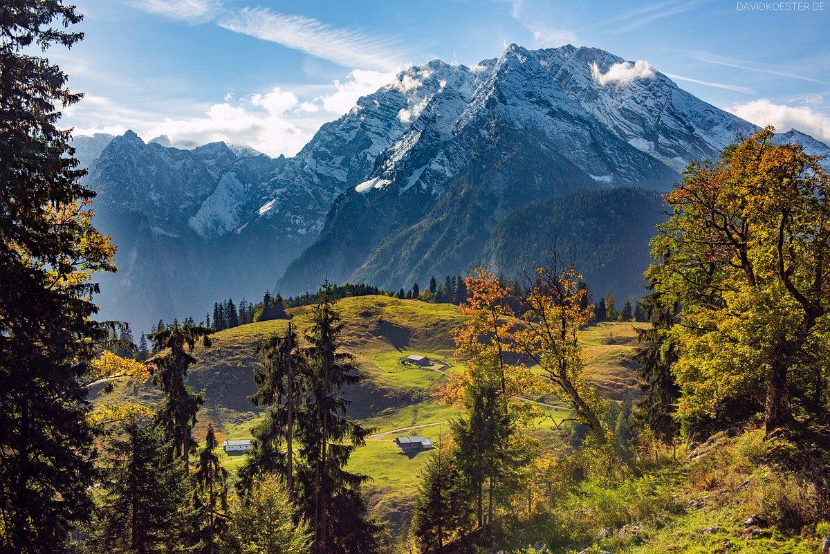 Blick zum Watzmann, Berchtesgadener Land, Bayern