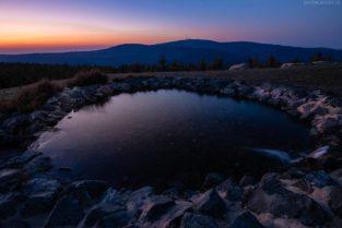 Brocken bei Sonnenuntergang, Harz