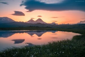 Kamtschatka #8 - Vulkane und See in der Tundra