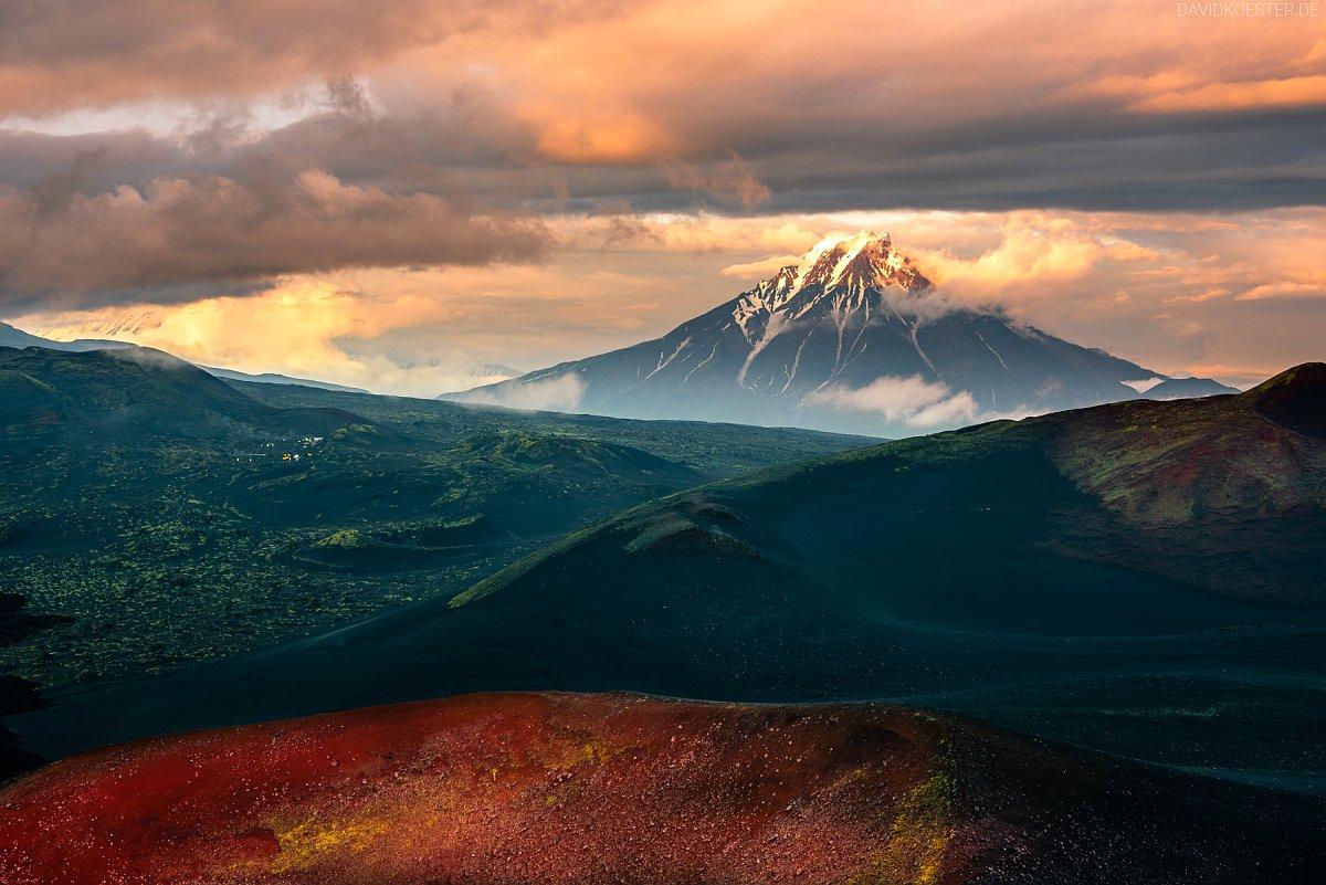 Kamtschatka Landschaft 01 |  Kljutschewskaja Sopka, UNESCO Weltnaturerbe Vulkane Kamtschatkas, Sibirien, Russland