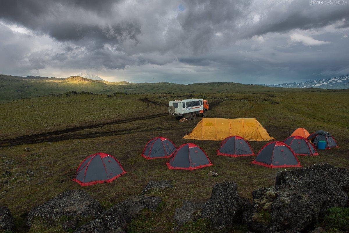 Kamtschatka - Basecamp im NP Vulkane von Kamtschatka