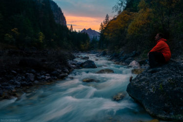 Deutschland - Selbstportrait an der Wimbach, Berchtesgadener Land