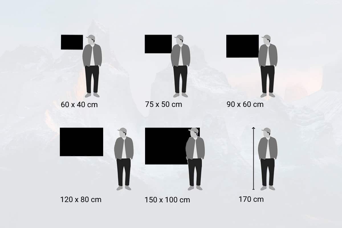 Die richtige Größe für Ihr Wandbild