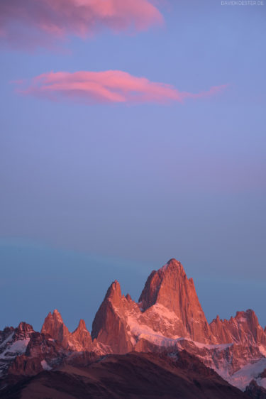 Patagonien - Fitz Roy im Morgenrosa