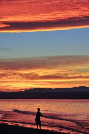 Neuseeland - Angler an der Tasman Sea