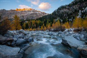 Schweiz - Morteratsch Tal im Herbst, Engadin