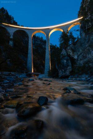 Schweiz - Landwasserviadukt, Rhätische Bahn