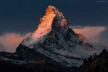 Schweiz - Matterhorn im Alpenglühen, Zermatt