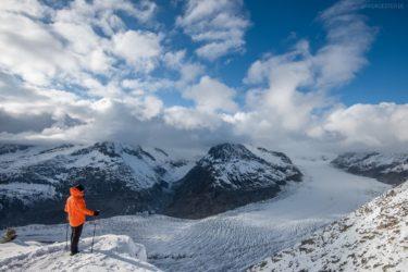 Schweiz - Wandern am Aletschgletscher