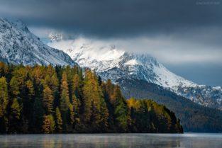 Schweiz - Herbst am Silser See, Engadin
