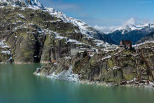 Schweiz - Grimselpass mit Grimselhospiz und Grimselsee
