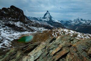 Schweiz - Riffelsee mit Matterhorn, Zermatt