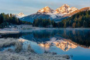 Schweiz - Winter trifft Herbst, Stazersee