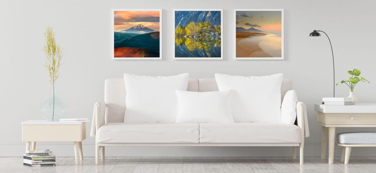Landschaftsbilder kaufen Wohnzimmer Trio
