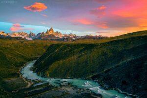Patagonien - Canyon mit Fitz Roy und Cerro Torre
